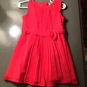 NWOT**Carter's Pleated Chiffon Springtime Dress